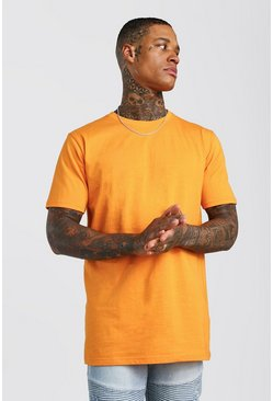 Orange Lång t-shirt