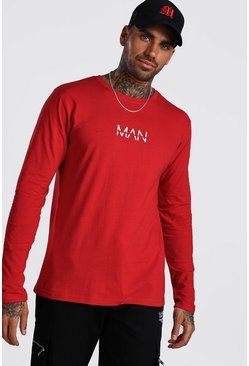 Fire red Original MAN Long Sleeve T-Shirt