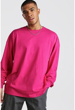 Rose Oversized Long Sleeve T-Shirt