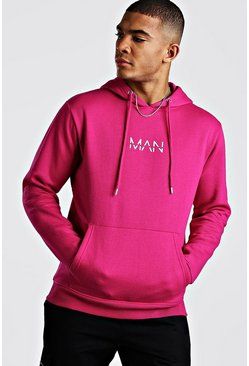 Rose Original MAN Print Over The Head Hoodie
