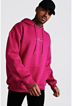 Rose Oversized MAN Signature Hoodie