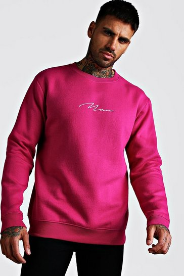 Rose MAN Signature Embroidered Sweatshirt