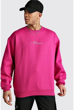 Rose Oversized MAN Signature Sweatshirt