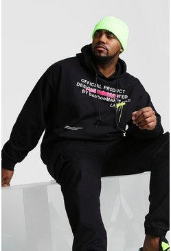 Black Big And Tall Certified Graffiti Hoodie