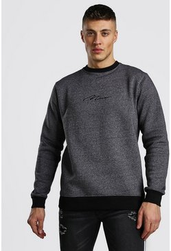 Charcoal MAN Signature Melerad sweatshirt