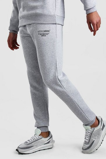 Grey marl MAN X Abode Skinny Fit Jogger