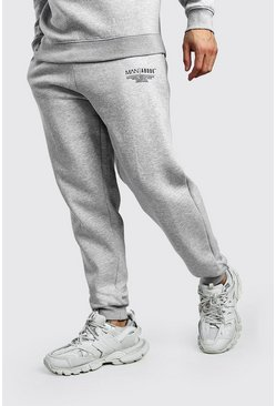 MAN X Abode Loose Fit Jogginghose, Grau meliert