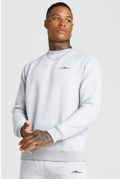 Grey marl MAN X Abode Regular Sweater