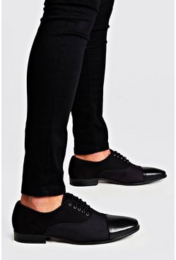 Mens Black 3 Texture Smart Shoes
