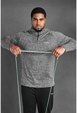 Charcoal Big And Tall MAN Active Raglan Top