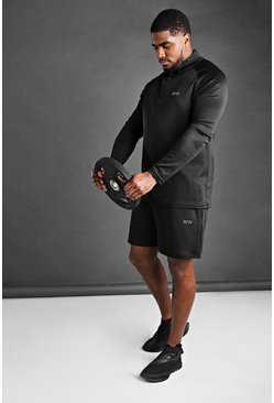 Black Big And Tall MAN Active Short Set