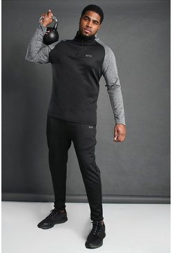 Black Big And Tall MAN Active Tracksuit