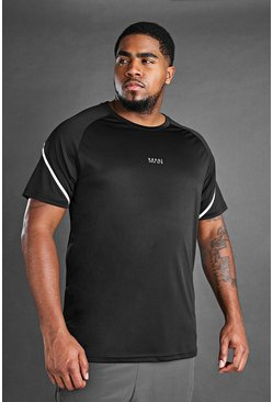Big And Tall - T-shirt MAN Active, Noir