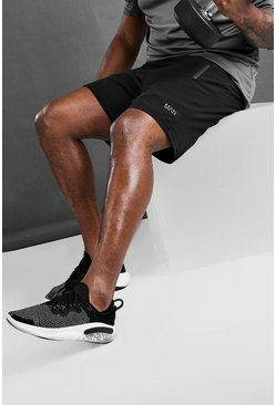 Black Big & Tall - MAN Active Träningsshorts