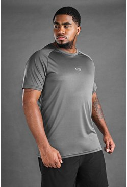 Charcoal Big And Tall MAN Active Longline T-Shirt