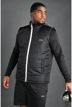 Big And Tall - Gilet MAN Active, Noir