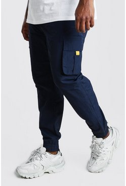 Pantaloni tuta cargo Big And Tall con rivestimento, Blu oltremare