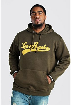 Khaki Big And Tall Varsity Hoodie