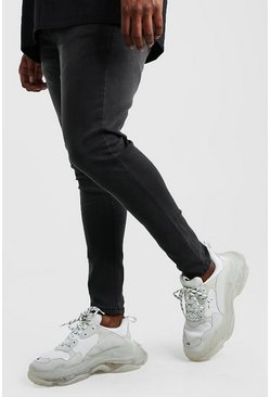 Big And Tall - Jean super skinny, Anthracite