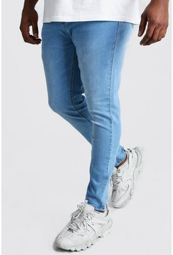 Jeans super skinny Big and Tall , Azzurro chiaro