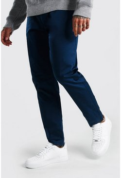 Pantalon chino coupe skinny, Pétrole