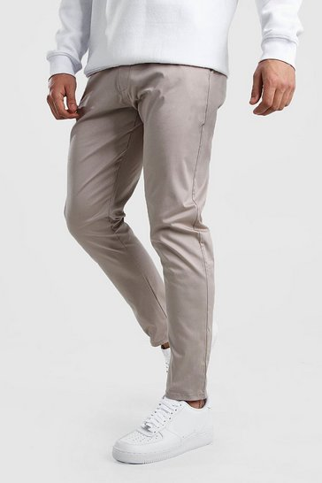 Stone Skinny Fit Chino Trouser