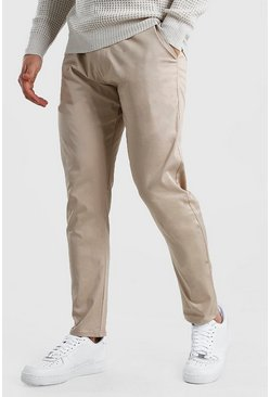 Beige Skinny Fit Chino Pants