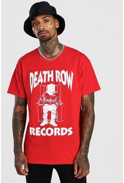 "T-Shirt mit ""Death Row""-Motiv, Rot"