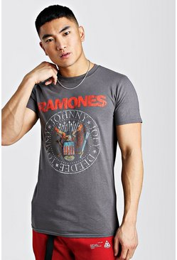 Grey Ramones License T-Shirt