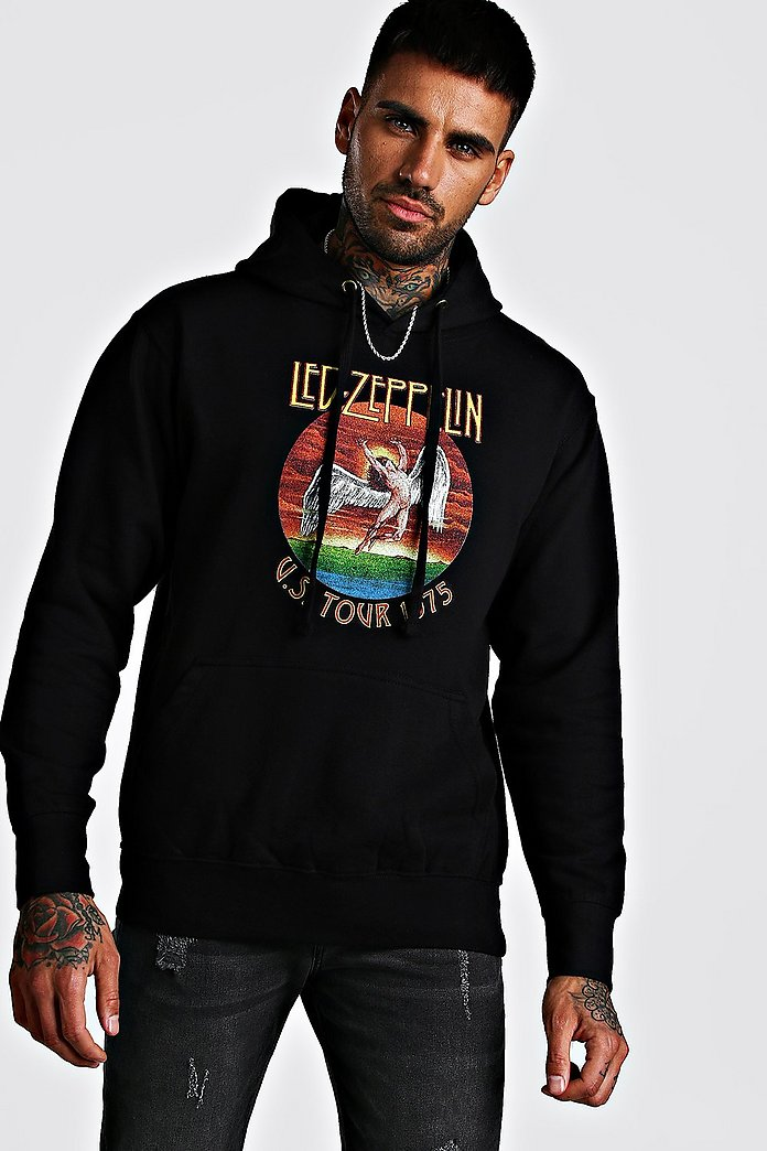 Led Zepplin License Hoodie | boohoo