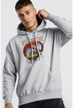 Grey Led Zepplin License Hoodie