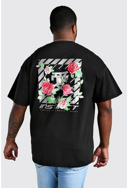 Black Big And Tall Instinct Floral T-Shirt