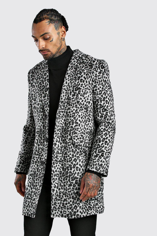 70s Jackets & Hippie Vests, Ponchos Mens Animal Wool Overcoat - Grey $95.00 AT vintagedancer.com