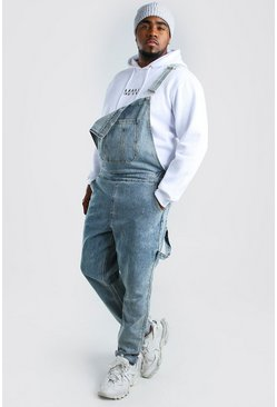 Light wash Big And Tall Slim Denim Dungarees