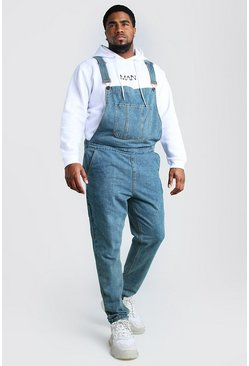 Salopette Big And Tall in denim slim fit, Lavaggio medio
