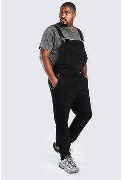 Black Big And Tall Chain Detail Dungaree