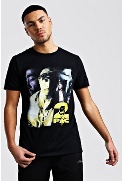 Black Tupac Homage License T-Shirt