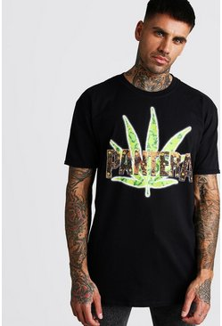 Black Oversized Pantera License T-Shirt