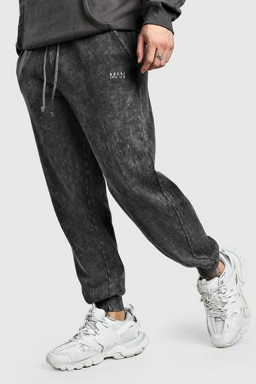 Charcoal Original MAN Loose Fit Acid Wash Jogger