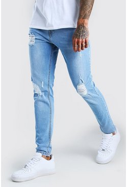 Light blue Skinny Jeans With Rips