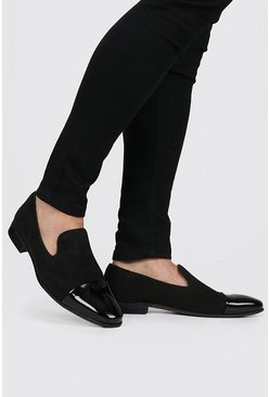 Black Patent Toe Cap Loafer