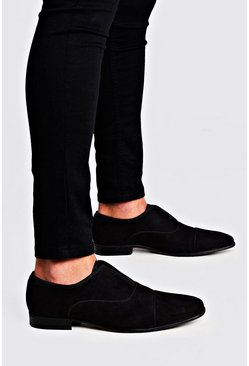 Mens Black Velvet Slip On Formals