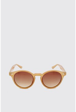 Mocha Acetate Vintage Look Sunglasses