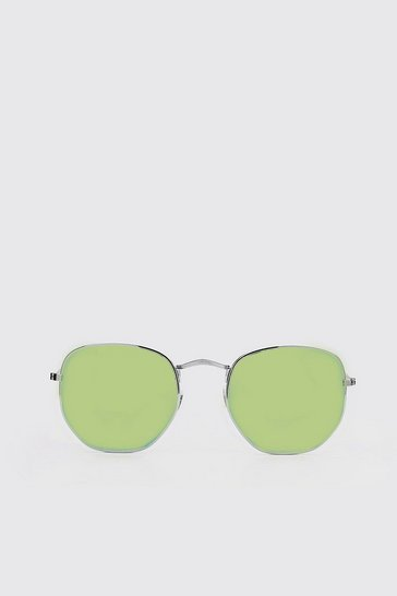 Yellow Colour Pop Round Sunglasses