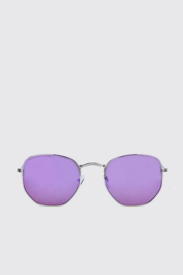 Lilac Colour Pop Round Sunglasses