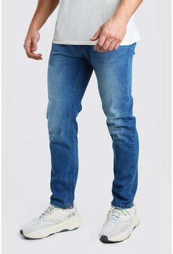Blue Slim Rigid Jeans