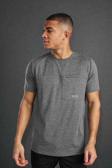 Charcoal MAN Active T-Shirt With Seam Detail