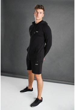MAN Active Set mit Shorts, Schwarz