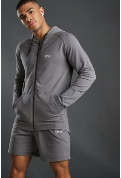 MAN Active Set mit Shorts, Anthrazit