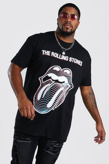 Black Big And Tall The Rolling Stones T-Shirt